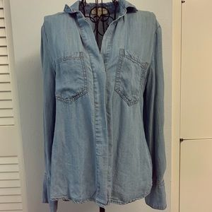 Cloth & Stone soft denim long sleeve button up